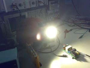 Impianto con il mostro-led acceso